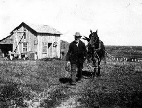North Dakota Homesteader about 1909
