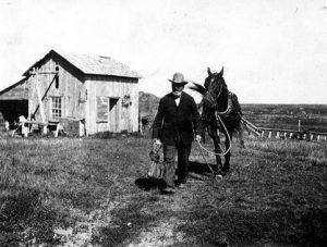 North Dakota Homesteader about 1909