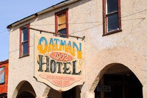 Oatman, Arizona Hotel Sign
