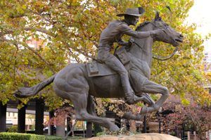 Pony Express Statue in Sacramento, California, by Carol Highsmith.