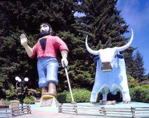 Paul Bunyan in Klamath, California