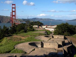 Presidio And Golden Gate Bridge by Jon Sullivan