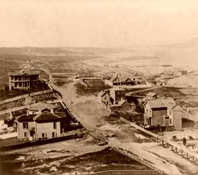 Presidio and Golden Gate, Lawrence and Houseworth, 1866