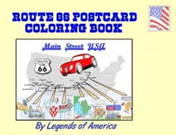 Route 66 Postcard Color Book