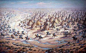 Sand Creek Massacre by Robert Lindneaux, 1936.