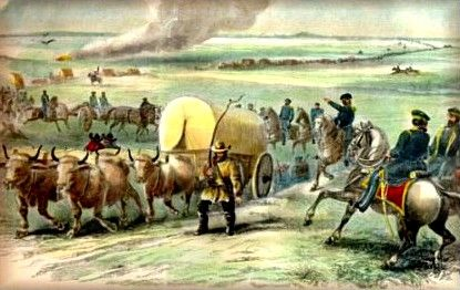 Army Train on the Santa Fe Trail