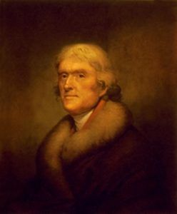 Thomas Jefferson, by Rembrandt Peale 1805.