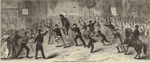 "Illustration of the Whiskey Rebellion from ""Our First Century"", R.M. Devens 1882"