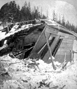 Woodstock snow slide, George E. Mellen, 1884