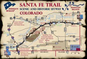 Colorado Santa Fe Trail Map