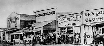 Dodge City in 1874, courtesy Ford County Historical Society