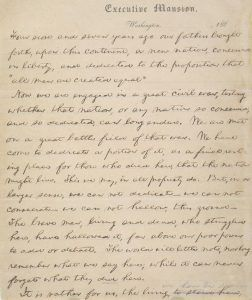 Gettysburg Address, Nicolay Copy, 1863