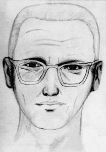 Artist's rendition of the Zodiac Killer in 1969