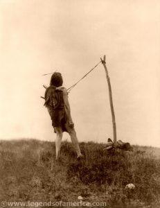 Apsaroke ritual for strength and vision, Edward S. Curtis, 1908