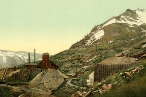 Aspen silver mines about 1900
