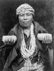 Athapascan Hupa Female Shaman, Edward Curtis, 1923