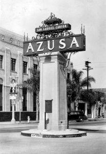 Azusa, California Sign