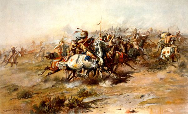 Battle of the Little Bighorn by C.M. Russell