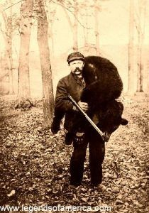 Bear hunter in the wilds of the American West