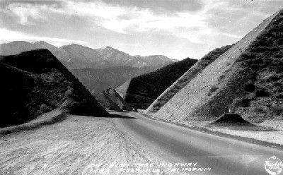 Historic Route 66 through Cajon Pass in 1931