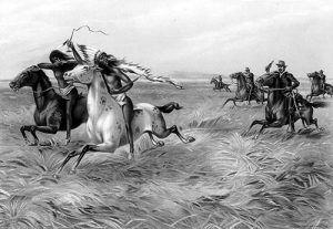 U.S. Calvary chasing Indians