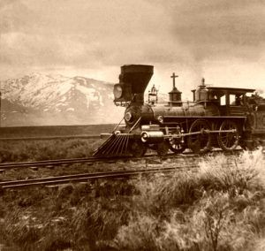 Central Pacific Railroad near Salt lake, Utah, 1865