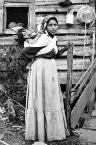 Cherokee woman and child