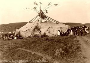 Cheyenne Sundance Preparation by Edward S. Curtis