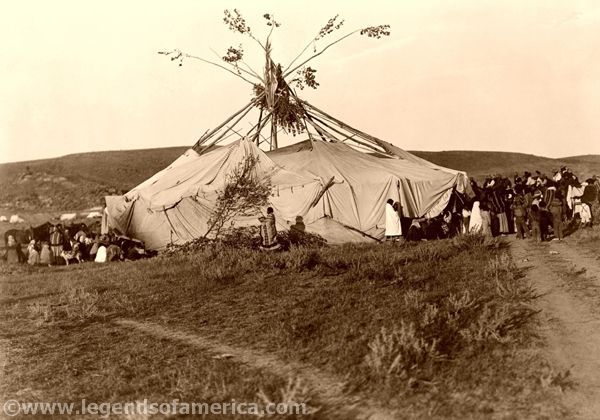 Cheyenne Sundance Preparation by Edward S. Curtis