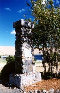 Nez Perce Chief Joseph's grave marker, Wallowa  Lake, Oregon,, photo courtesy Nez Perce