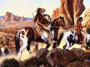 Comanche war party by Richard Luce, courtesy First People