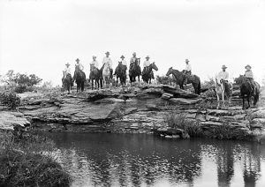 Cowboys at Blanco Canyon, Texas