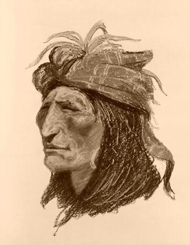 Creek Warrior by Frederic Remington, 1906