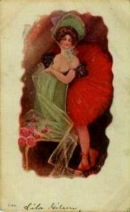 Dance Hall Girl Postcard
