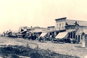 Dodge City, Kansas about 1875