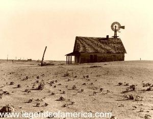 Dustbowl Farm Near Dalhart Texas, 1938