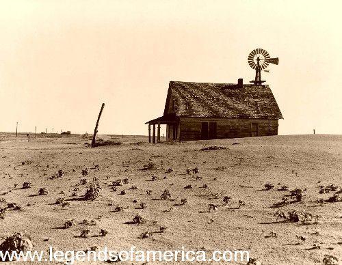 Dustbowl Farm Near Dalhart Texas, 1938