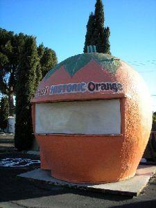 Orange Stand in Fontana, California