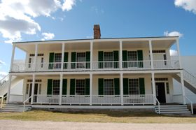 Old Bedlam at Fort Laramie, Wyoming by Kathy Weiser-Alexander.