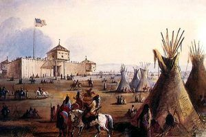 Fort Laramie, Wyoming painting by Alfred Jacob Miller