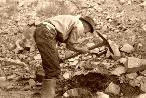Gold Prospector in New Mexico