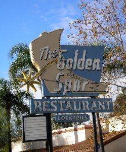 Golden Spur Sign, Glendora, California