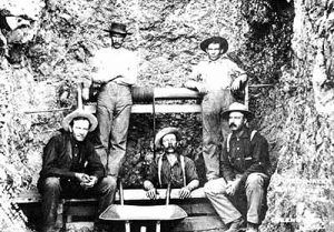 Miners in the Greenwater Mining District of California