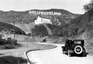 "1920s photo showing ""Hollywoodland."""