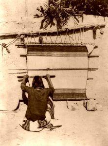 Hopi Weaving, 1879, John K. Hillers