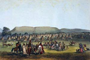 Indians camped near Fort McKenzie, Montana