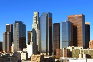 Skyline of Central Los Angeles, California by Carol Highsmith.
