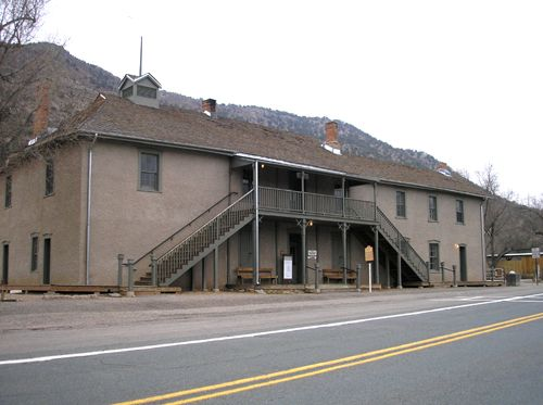 The Murphy & Dolan Mercantile in Lincoln, New Mexico would later become the Lincoln County Courthouse