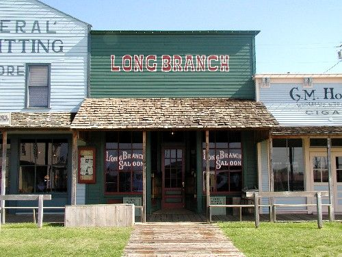 Long Branch Saloon, Dodge City, Kansas by Kathy Weiser-Alexander.