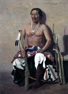 Navajo War Chief Manuelito, by Elbridge Ayer  Burbank, 1908